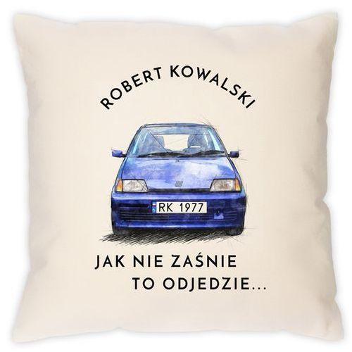 Poduszka z nadrukiem dla fana Fiat Cinquecento