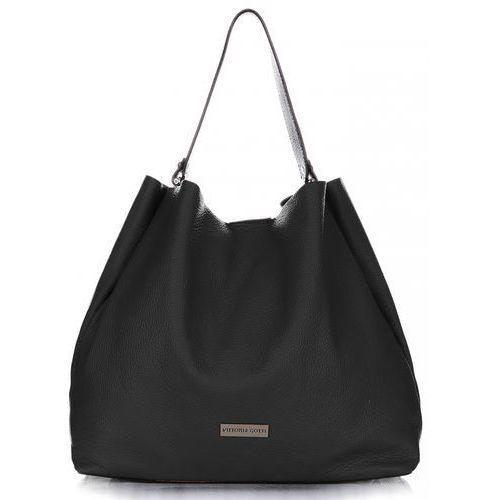 043b98819b44f Torebki skórzane typu shopperbag xl czarna (kolory) marki Vittoria gotti  249