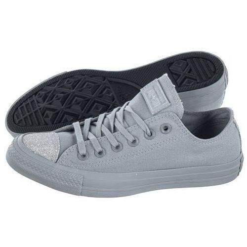 Trampki Converse CT All Star OX Wolf Grey/Silver 563467C (CO368-b), kolor szary