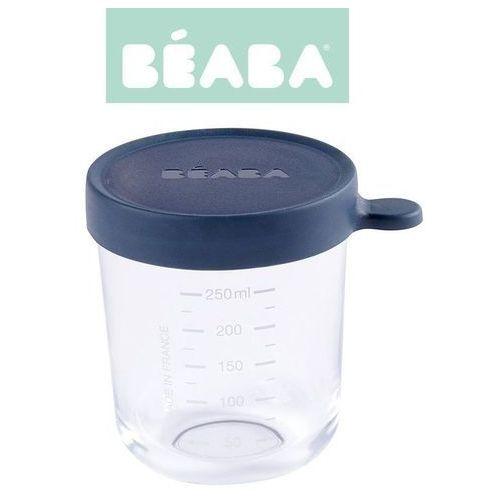 pojemnik słoiczek szklany z hermetycznym zamknięciem 250 ml dark blue marki Beaba