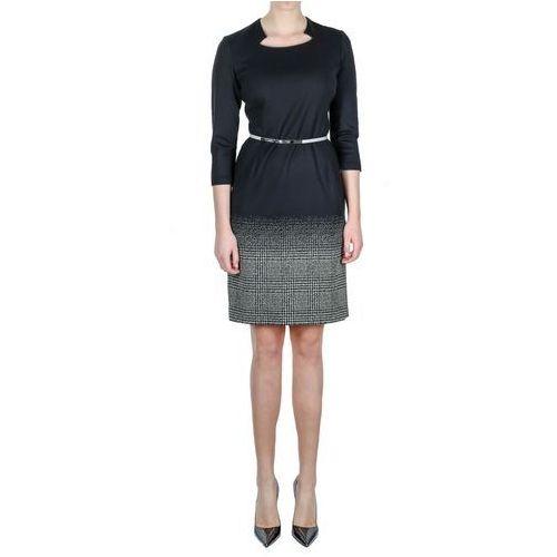 30f73b8d8 Czarna sukienka (Kolor: czarny, Rozmiar: 40), VV/O/3508 150,00 zł szykowna  sukienka w kolorach czarnym (góra) i bialo-czarnym (dól).