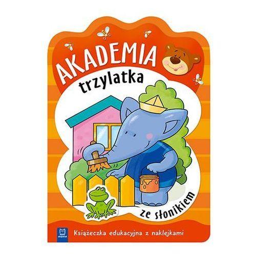 Praca zbiorowa Akademia trzylatka ze słonikiem książeczka edukacyjna z naklejkami (9788381061391)