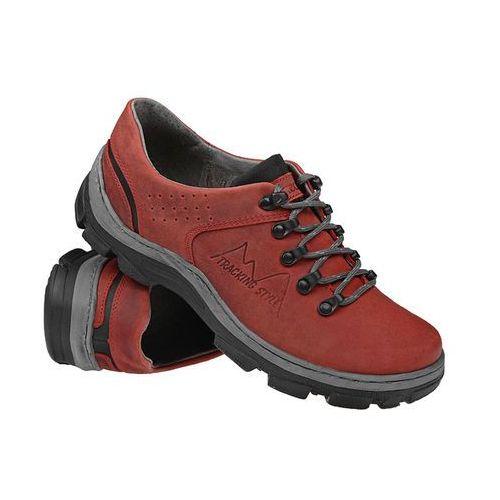 Kornecki Półbuty buty trekkingowe 1392 czerwone - czerwony