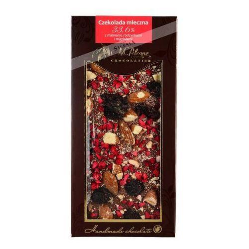 M. Pelczar czekolada mleczna z malinami, rodzynkami i migdałami 85g