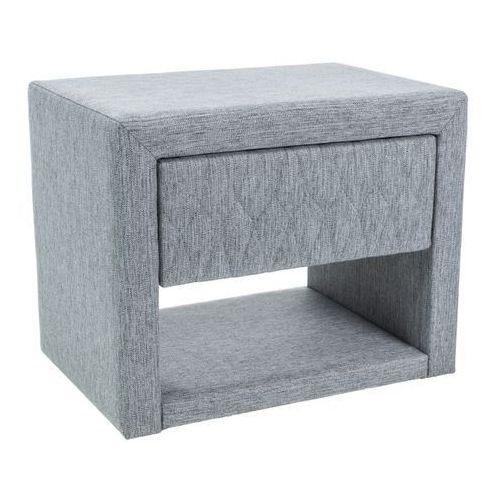Tapicerowana szafka nocna z szufladą i półką Azurro