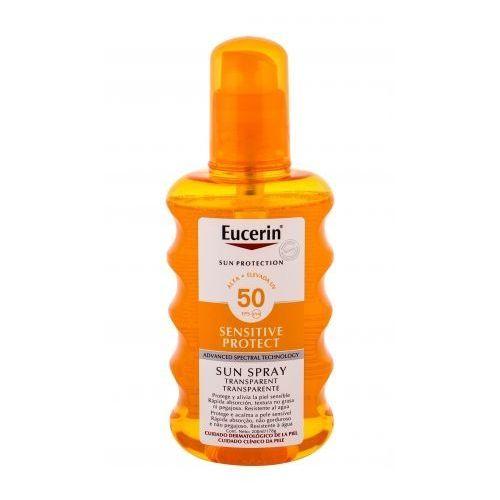sun sensitive protect sun spray transparent spf50 preparat do opalania ciała 200 ml unisex marki Eucerin