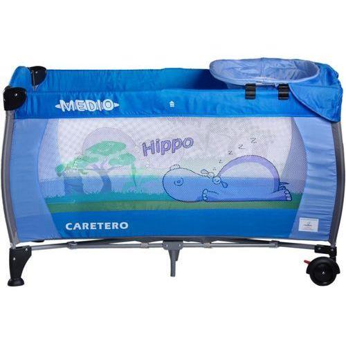 Caretero Łóżeczko turystyczne  safari hippo niebieski + darmowy transport!
