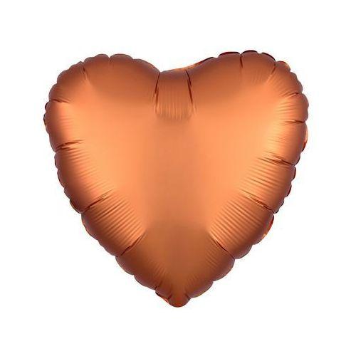 Balon foliowy Serce pomarańczowe - 43 cm - 1 szt. (0026635385817)