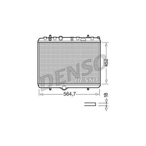 Chłodnica, układ chłodzenia silnika DENSO DRM21055, DRM21055