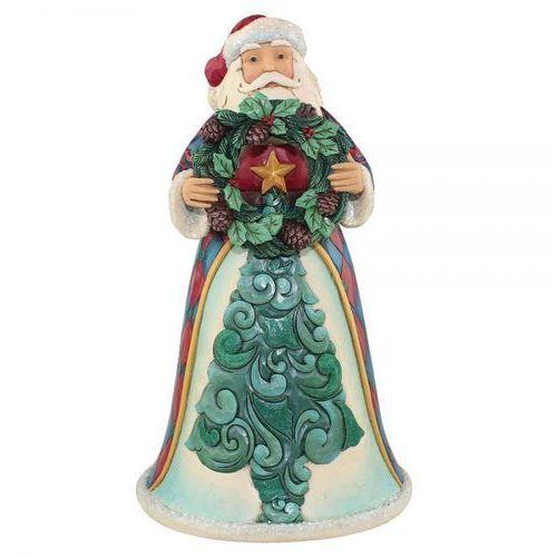 """Mikołaj """"świąteczna wiadomość"""" traditions & tidings (winter wonderland santa) 4058744 figurka ozdoba świąteczna marki Jim shore"""