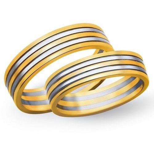 Obrączki z żółtego i białego złota 4mm - O2K/112 - produkt dostępny w Świat Złota