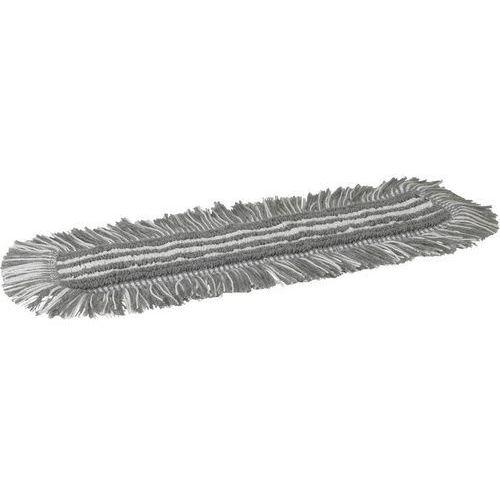 Mop Damp 48, do sprzątania na wilgotno, na rzepy, szary, 400 mm, VIKAN 548740