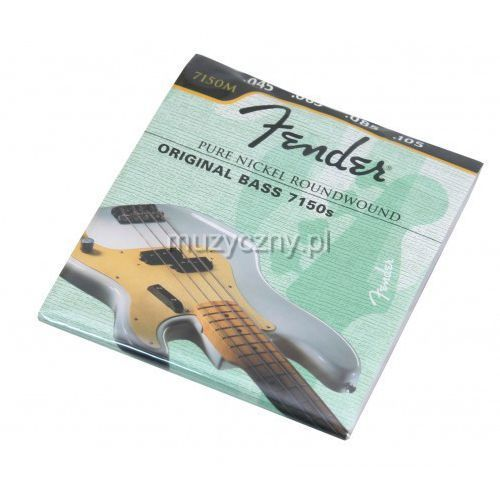Fender 7150M pure nickel struny do gitary basowej 45-105