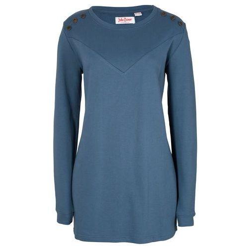 ecf04d276a584b Długa bluza z ćwiekami bonprix indygo 69,99 zł Dł. W rozm. 40/42 ok. 76 cm.  Można prać w pralce.