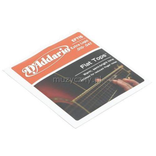 D′addario eft-15 flat top struny do gitary akustycznej 10-47