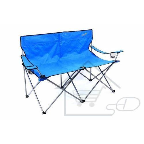 1 Krzesło turystyczne wędkarskie xxl dla 2 osób niebieskie