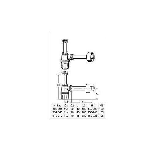 Viega półsyfon umywalkowy butelkowy 108 694 - oferta (856c6a2835b5f228)