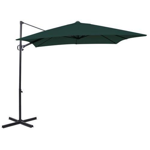 Vidaxl  parasol ogrodowy z aluminiowym wspornikiem zielony 2,5x2,5 m kwadrat