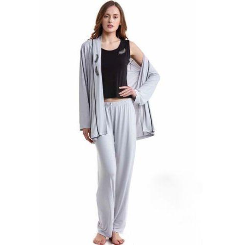 f177d60caeaff8 szlafrok? (strona 13 z 57). Damska bambusowa piżama BELINDA ze szlafrokiem  XL Kremowy ...