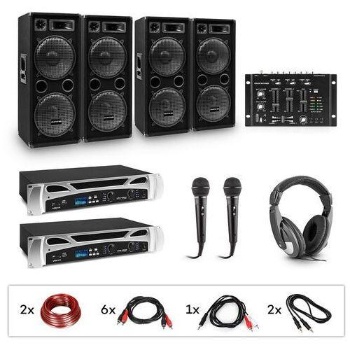Electronic-Star eStar, Bass-Party, zestaw DJ, 2xwzmacniacz PA, mikser DJ, 4xsubwoofer, słuchawki