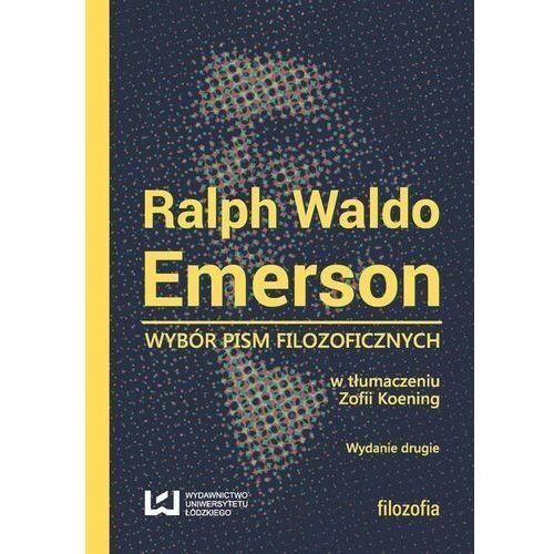 Ralph Waldo Emerson - Wydawnictwo Uniwersytetu Łódzkiego, oprawa broszurowa