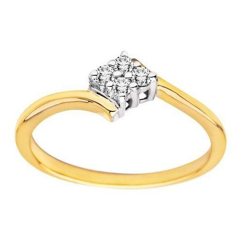 Pierścionek z żółtego złota z brylantami 0,14ct - PB/008b, marki Świat Złota do zakupu w Świat Złota