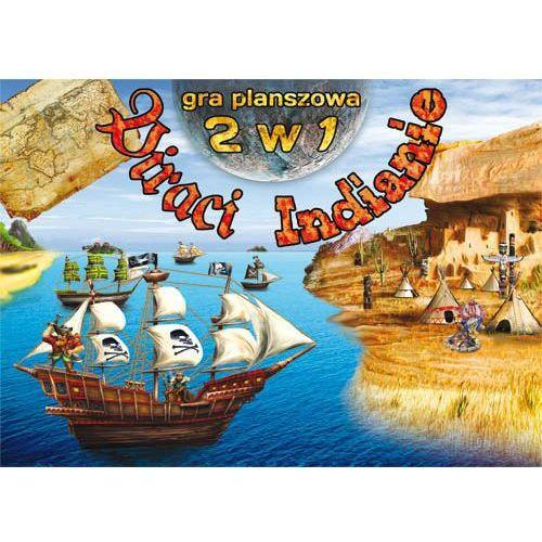 Gra planszowa 2 w 1. Piraci. Indianie- bezpłatny odbiór zamówień w Krakowie (płatność gotówką lub kartą). (9788378980742)