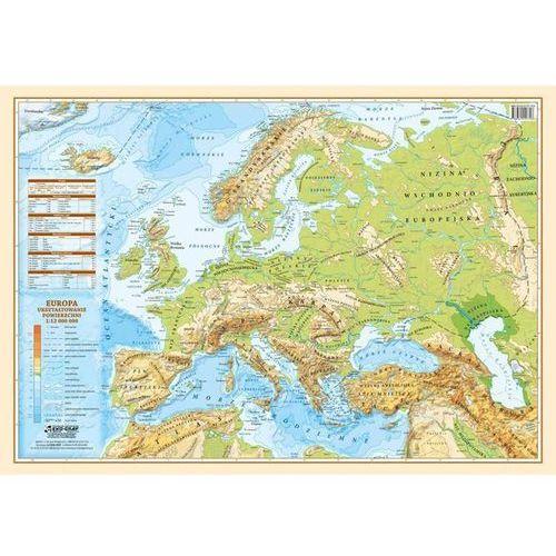 Mapa podkładka Europa polityczno-fizyczna 1:12 000 000 (9788365828286)