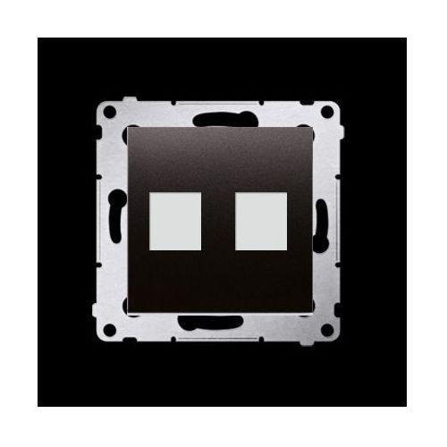 Kontakt-simon Pokrywa gniazd teleinformatycznych na keystone płaska podwójna (moduł); antracyt