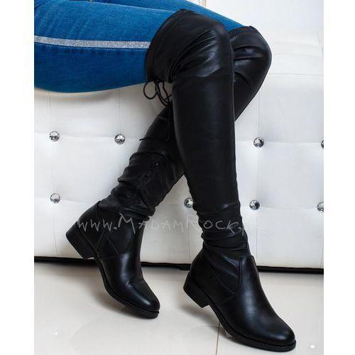 Kozaki za kolano Madam Smalto czarne, kolor czarny