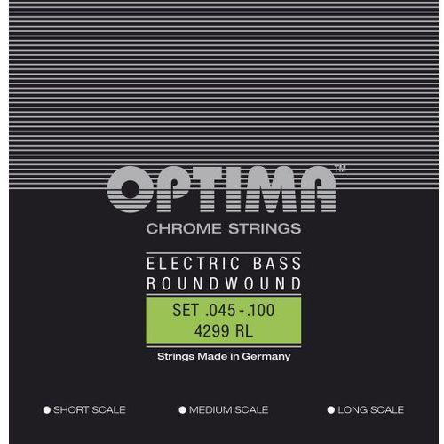 Optima 4299rl (680515) struny do gitary basowej chrome strings. round wound medium scale komplet