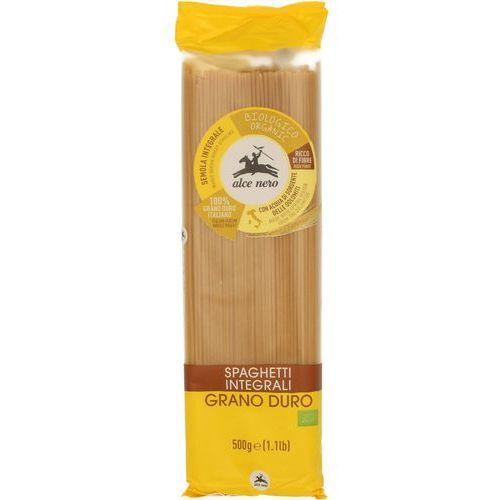 Alce nero Makaron razowy spaghetti (semolina) bio 6x500g