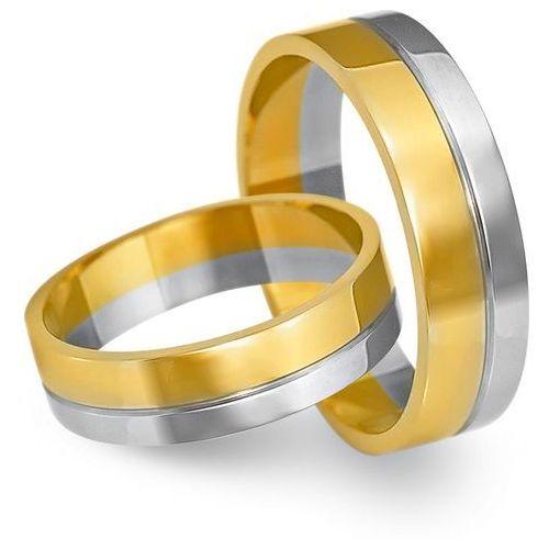 Obrączki z żółtego i białego złota 5mm - O2K/165 - produkt dostępny w Świat Złota