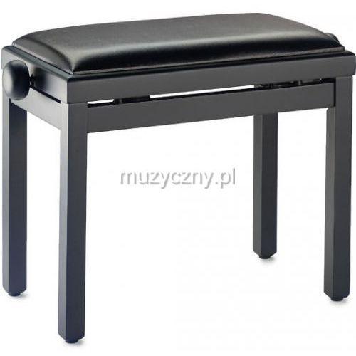 Stagg pb39 ława do pianina, czarny mat, siedzisko czarny skaj