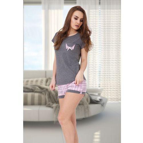 Piżama damska irma 527 szary melanż/róż, M-max