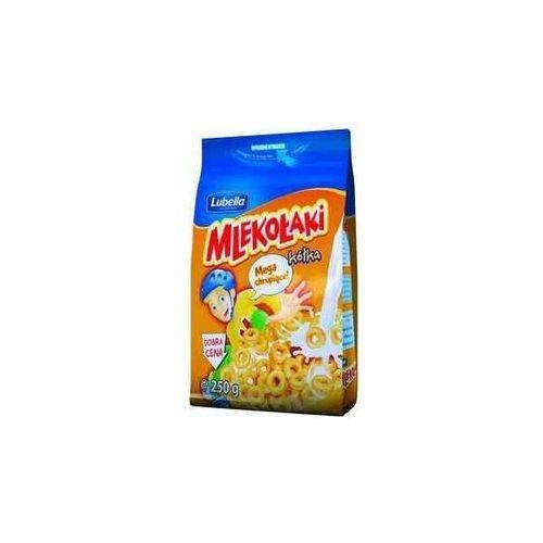 Zbożowe chrupki miodowe Mlekołaki Kółka Miodo 250 g Lubella (5900049011201)
