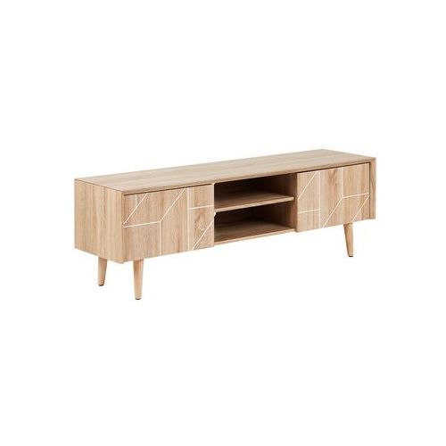 Beliani Szafka rtv jasne drewno franklin (4251682221887)