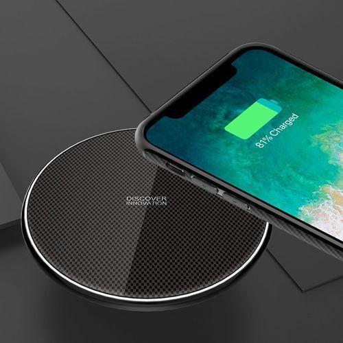 Nillkin Fancy Gift Set - zestaw podarunkowy etui + bezprzewodowa ładowarka Qi + kabel 3w1 (USB - micro USB/Lightning/USB-C) iPhone X czarny, 46148 (11199252)
