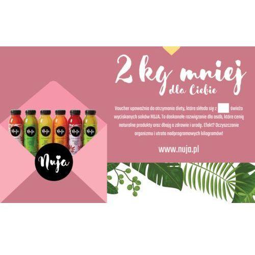 Karta podarunkowa 2 kg mniej / dieta sokowa / detoks sokowy marki Nuja