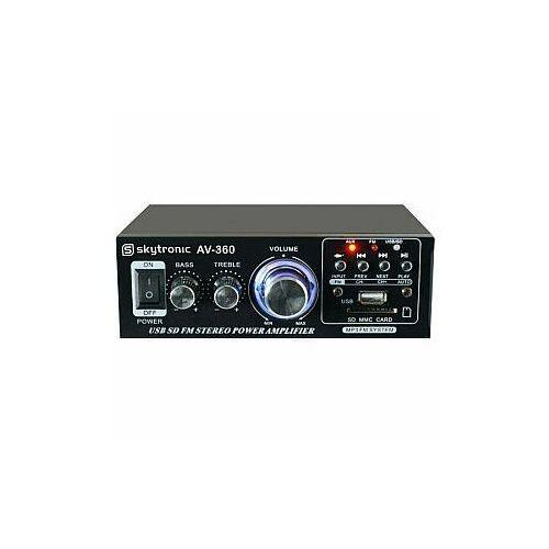 Skytronic AV-360 Wzmacniacz karaoke FM / USB / SD (8715693258028)
