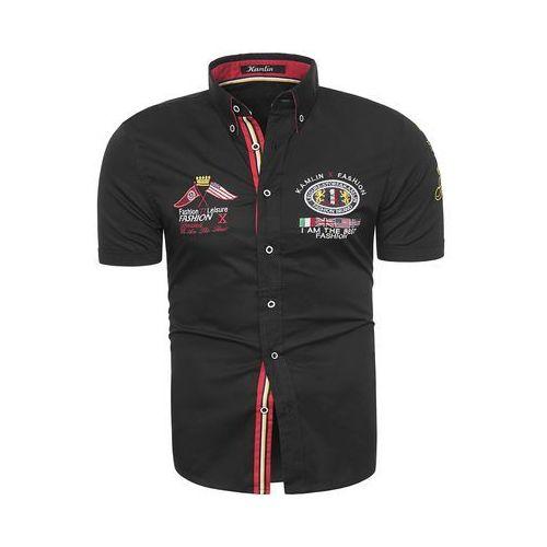 Koszula z krótkim rękawem k1332 - czarna marki Risardi