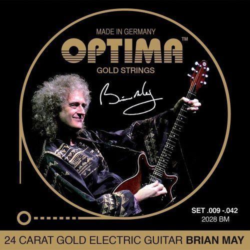 Optima 2028bm (674609) struny do gitary elektrycznej gold strings round wound komplet