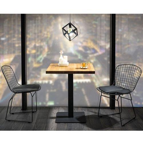 Kwadratowy stół z blatem w okleinie naturalnej puro marki Signal