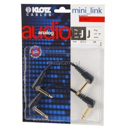 Klotz au ajj0015 kabel patch stompbox 15cm, ts kątowe (2 szt.)