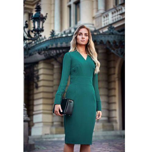 Style S136 sukienka ołówkowa - zielona