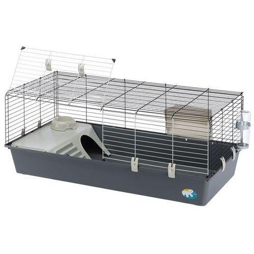Ferplast rabbit 120 klatka dla królików i świnek morskich - szara kuweta| dostawa gratis + promocje| -5% rabat dla nowych klientów
