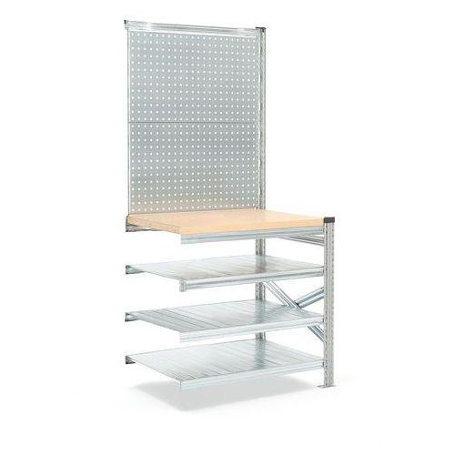Stół roboczy Transform 972/916x900x600 mm. Moduł dodatkowy z panelem narzęd