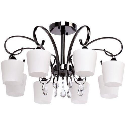 Mw-light Piękny żyrandol, stylowy i elegancki - ciemny metal i osiem kloszy (315011308)