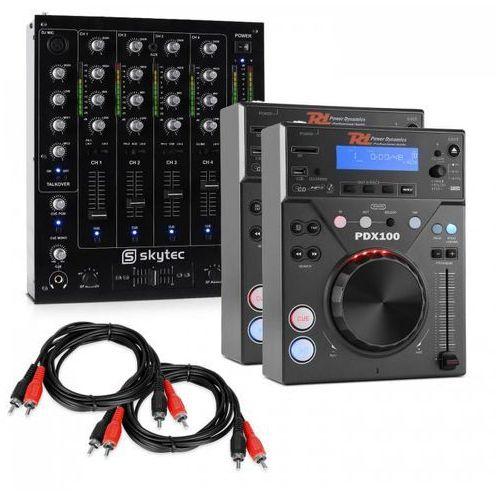 """Elektronik-star """"cd dj starter"""" zestaw dla dj'a 4-kanałowy mikser 2 odtwarzacze cd"""