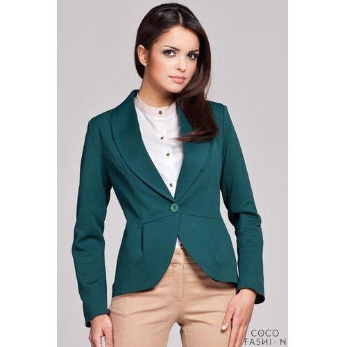 Zielona Marynarka z Baskinką - produkt dostępny w Coco Fashion